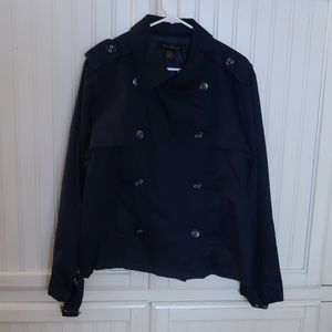 Ashley Stewart Navy Blue Jacket Plus size 2x